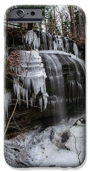 Buttermilk Falls iPhone Cases - Frozen Buttermilk Falls iPhone Case by Anthony Thomas