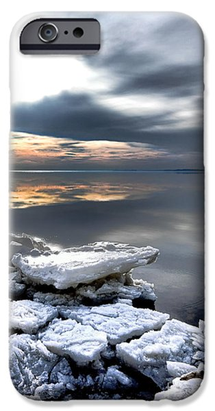 Chesapeake Bay iPhone Cases - Frozen Chesapeake iPhone Case by Olivier Le Queinec