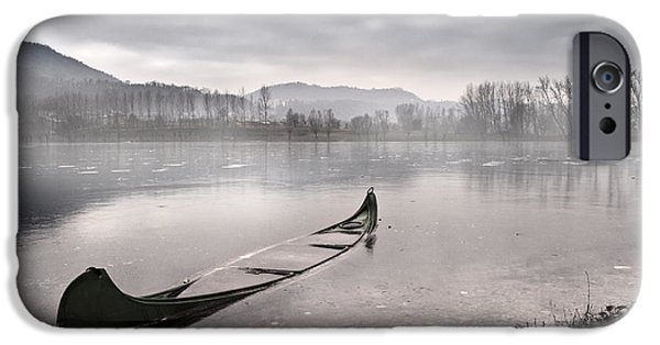 Boats iPhone Cases - Frozen day iPhone Case by Yuri Santin