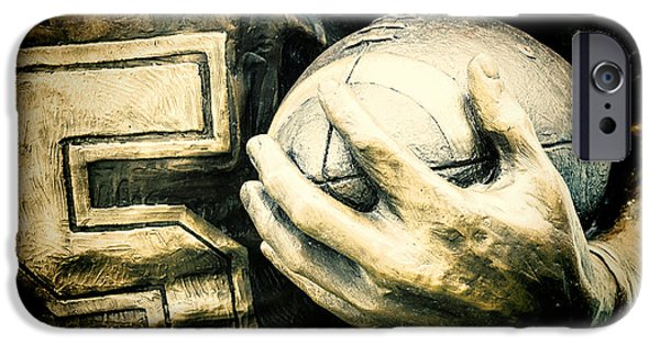 Statue iPhone Cases - Frozen in Time iPhone Case by Joan Carroll