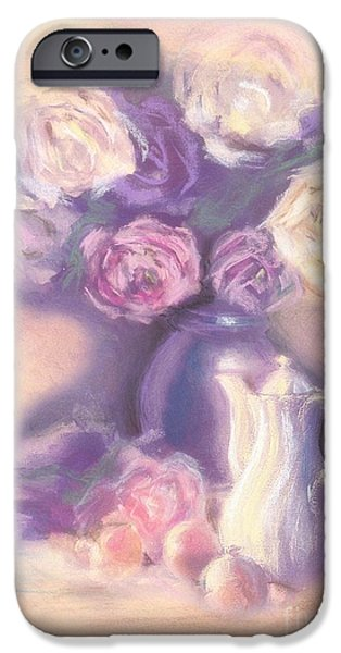 Rose Pastels iPhone Cases - Frozen in Time iPhone Case by Mo T