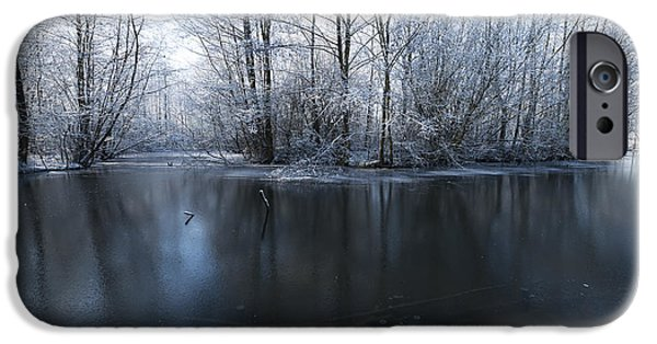 Snowy Stream iPhone Cases - Frozen in Time iPhone Case by Svetlana Sewell