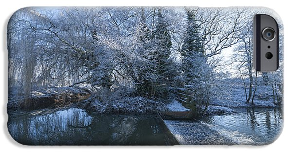 Snowy Stream iPhone Cases - Frozen Iseland iPhone Case by Svetlana Sewell