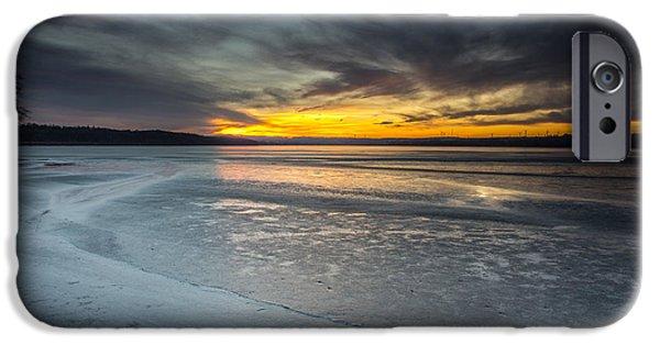 Minnesota iPhone Cases - Frozen Lake Benton iPhone Case by Aaron J Groen
