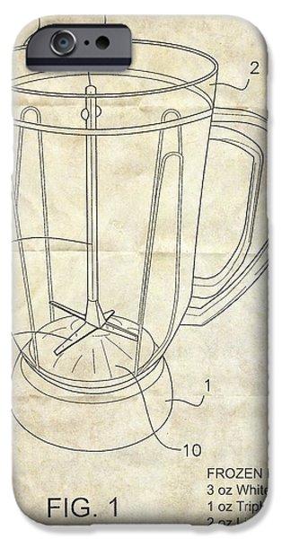 Sec iPhone Cases - Frozen Margarita Recipe Patent iPhone Case by Edward Fielding