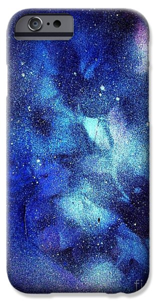 Snowy Night Mixed Media iPhone Cases - Frozen Out iPhone Case by Sarah  Rachel