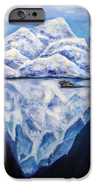 Original Sculptures iPhone Cases - Frozen iPhone Case by Raya Finkelson