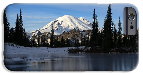 Mt iPhone Cases - Frozen Reflection iPhone Case by Mike Dawson