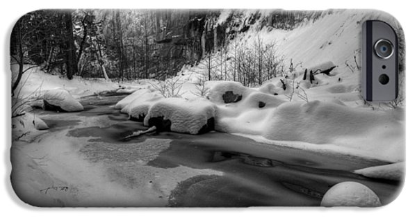 West Fork iPhone Cases - Frozen Splendor iPhone Case by Sue Cullumber