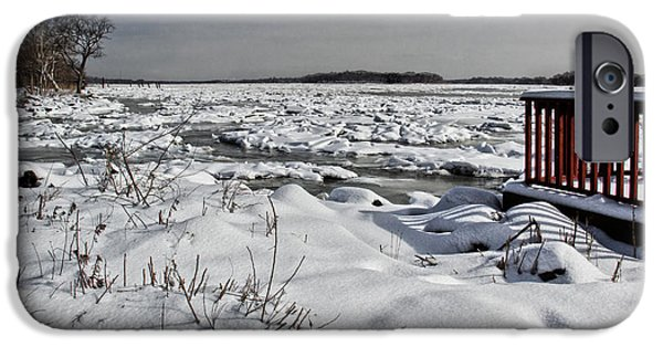 Snow iPhone Cases - Frozen River iPhone Case by Tom Gari Gallery-Three-Photography