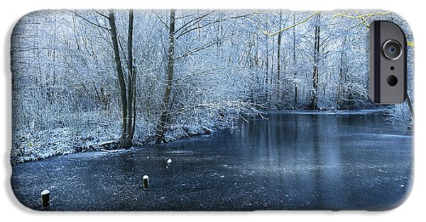 Snowy Stream iPhone Cases - Frozen iPhone Case by Svetlana Sewell