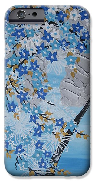Living With Joy iPhone Cases - Frozen Tree iPhone Case by Cathy Jacobs