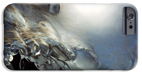 Rural iPhone Cases - Frozen Waterfall iPhone Case by Dianne Cowen