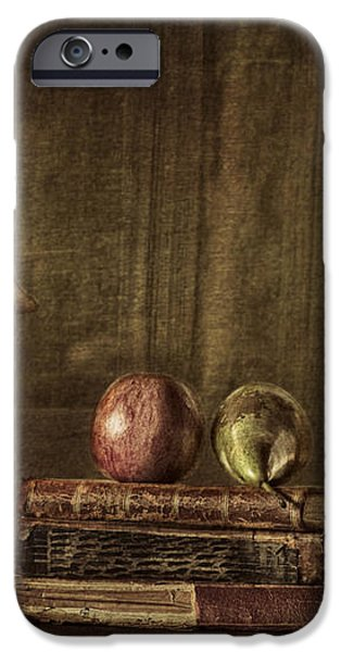Fruit and Books iPhone Case by Erik Brede
