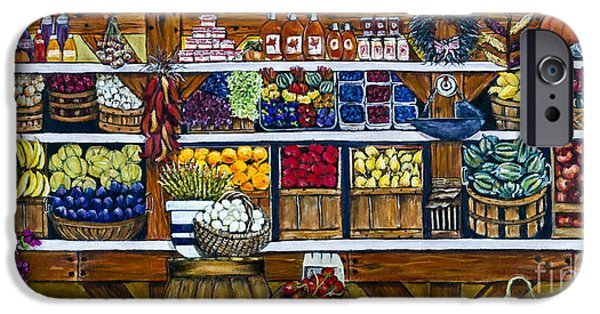 Farm Stand iPhone Cases - Fruit and Vegetable Market by Alison Tave iPhone Case by Sheldon Kralstein