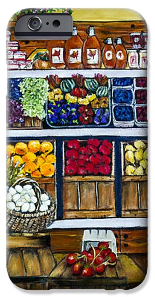 Fruit and Vegetable Market by Alison Tave iPhone Case by Sheldon Kralstein