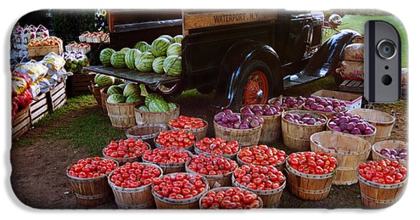 Farm Stand iPhone Cases - Fruit and Vegitable Stand Truck iPhone Case by Tom Brickhouse