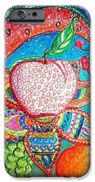 Faries iPhone Cases - Fruit Angels and Faries iPhone Case by Anjali Sanghi