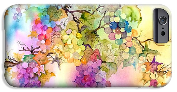 Grape Vine iPhone Cases - Fruit on the Vine iPhone Case by Neela Pushparaj