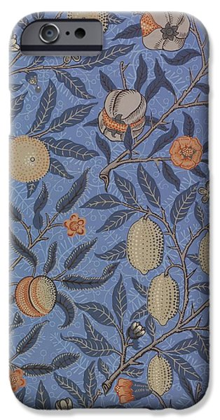 Food And Beverage Tapestries - Textiles iPhone Cases - Fruit Pattern iPhone Case by William Morris