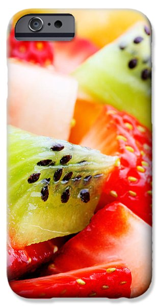 Raw iPhone Cases - Fruit salad macro iPhone Case by Johan Swanepoel