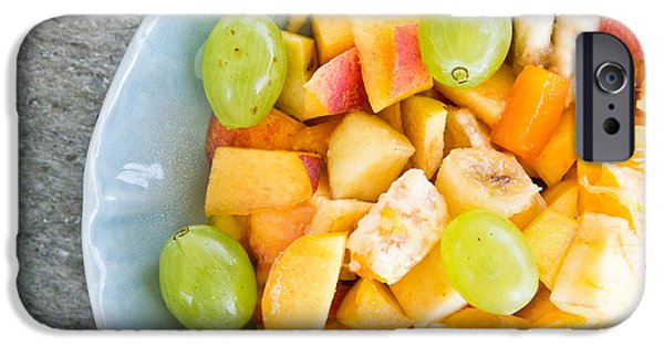 Above iPhone Cases - Fruit salad iPhone Case by Tom Gowanlock