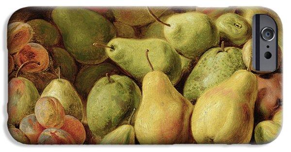 Nineteenth iPhone Cases - Fruit Still Life iPhone Case by Johann Friedrich August Tischbein
