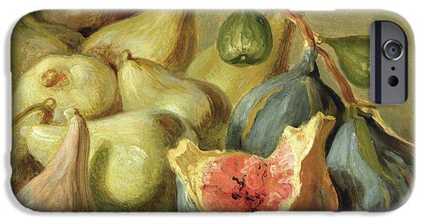 Decorative Fine Art iPhone Cases - Fruit Still Life iPhone Case by Johann Heinrich Wilhelm Tischbein