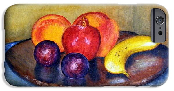 Food And Beverage Jewelry iPhone Cases - Fruit Still Life Painting iPhone Case by Barbara Jacquin