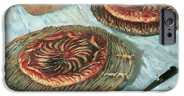 Impressionist Photographs iPhone Cases - Fruit Tarts, 1882 Oil On Canvas iPhone Case by Claude Monet