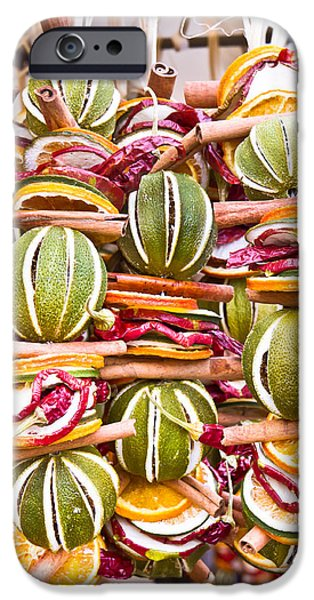 Chilli iPhone Cases - Fruit wreaths iPhone Case by Tom Gowanlock