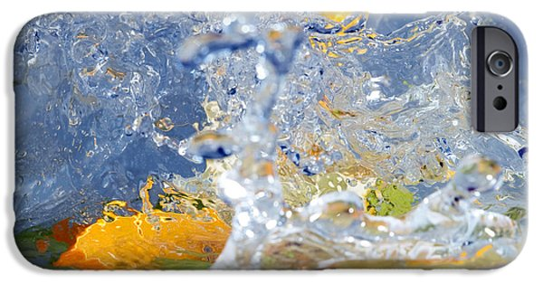Lemon Drops iPhone Cases - Fruits and water iPhone Case by Sinisa Botas