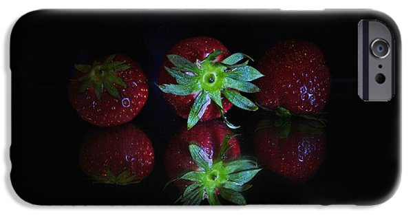 Table Wine iPhone Cases - Fruits iPhone Case by Maja Sokolowska