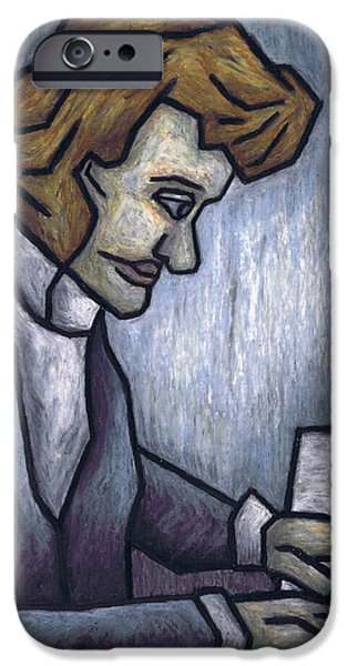 Piano Pastels iPhone Cases - Fryderyk Chopin - Prelude in E-Minor iPhone Case by Kamil Swiatek