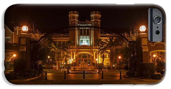 Florida Pyrography iPhone Cases - FSU Westcott Building/Ruby Diamond Auditorium iPhone Case by Frank Feliciano