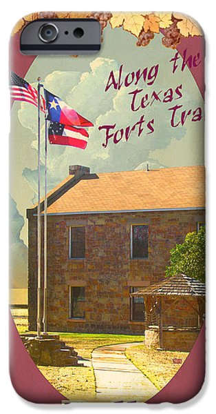 Historic Site iPhone Cases - Ft Belknap Historic Site iPhone Case by Jim Sanders