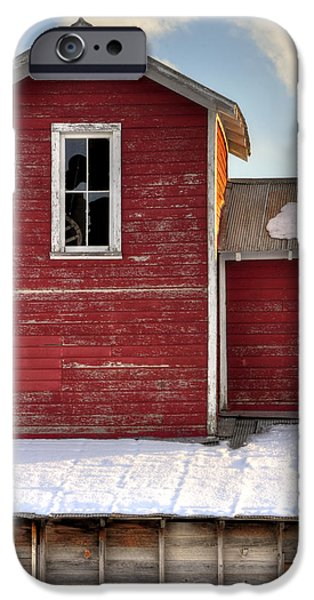 Ft. Collins iPhone Cases - Ft Collins Barn 13496 iPhone Case by Jerry Sodorff
