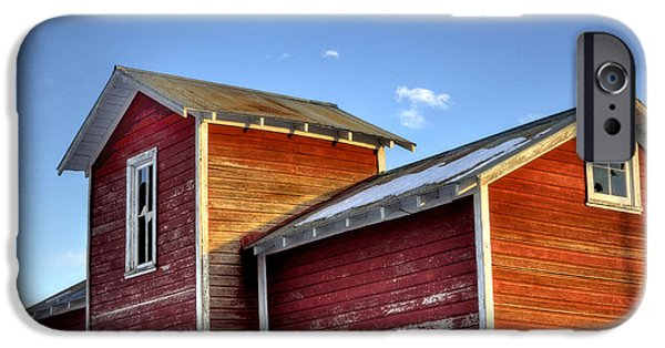 Ft. Collins iPhone Cases - Ft Collins Barn Sunset 13505 iPhone Case by Jerry Sodorff