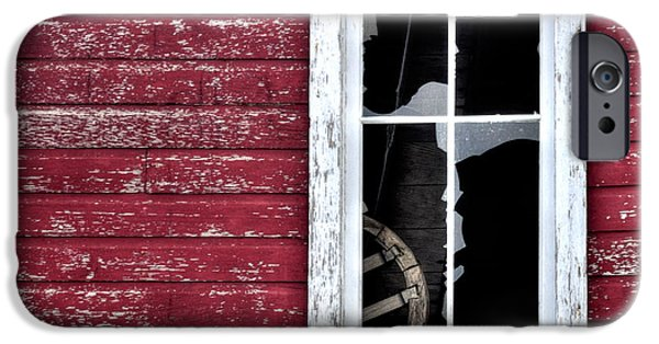 Old Barns iPhone Cases - Ft Collins Barn Window 13568 iPhone Case by Jerry Sodorff