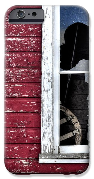 Ft Collins Barn Window 13568 iPhone Case by Jerry Sodorff