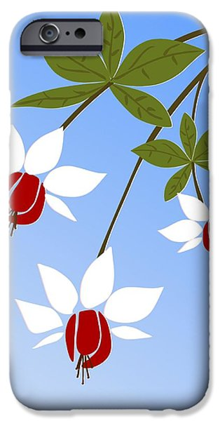 Branch iPhone Cases - Fuchsia iPhone Case by Anastasiya Malakhova