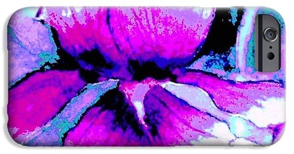 Garden Scene Paintings iPhone Cases - Fuchsia Iris iPhone Case by Hazel Holland