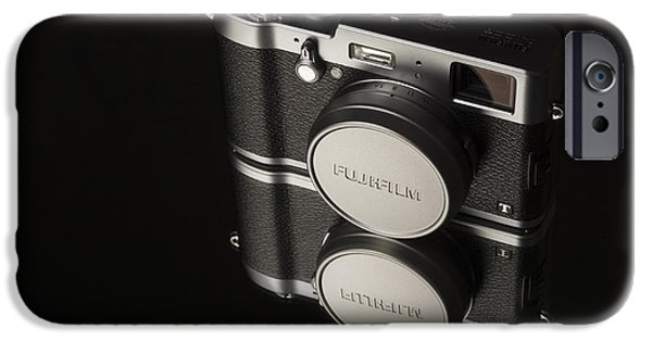 Rangefinder iPhone Cases - Fujifilm x100t Camera iPhone Case by Edward Fielding