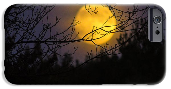Moonscape iPhone Cases - Full Beaver Moon iPhone Case by Mim White