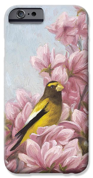 Evening Paintings iPhone Cases - Full-Bloom iPhone Case by Lucie Bilodeau