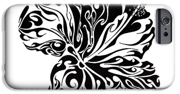 Pen And Ink iPhone Cases - Full Bloom of Hope iPhone Case by Anushree Santhosh