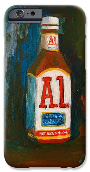 Full Flavored - A.1 Steak Sauce iPhone Case by Patricia Awapara