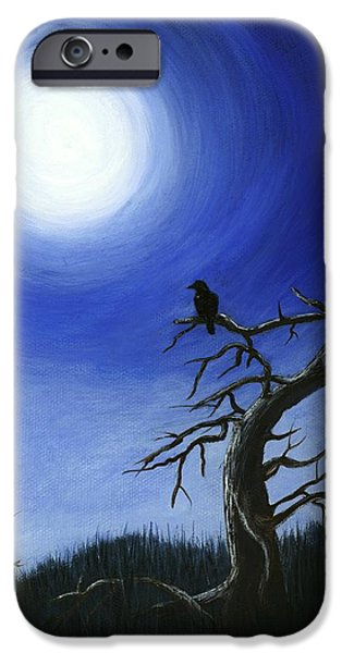 Night iPhone Cases - Full Moon iPhone Case by Anastasiya Malakhova