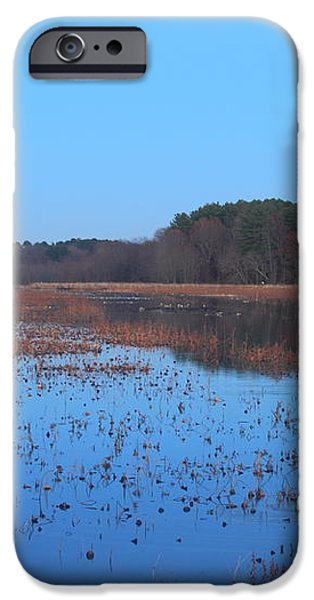 Full Moon at Great Meadows National Wildlife Refuge iPhone Case by John Burk