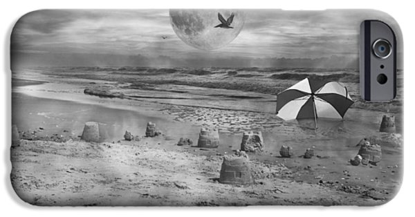 Sand Castles Photographs iPhone Cases - Full Moon Castles iPhone Case by Betsy A  Cutler